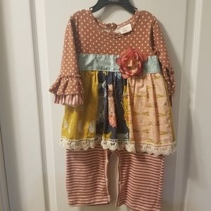 Haute Baby outfit with matching headband